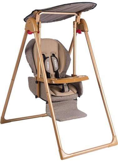 Tommy Baby Crazy Gold Salıncak Bebek Çocuk Salıncağı Mama Sandalyesi Kahve